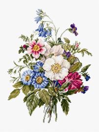 BOUQUET OF SUMMER FLOWERS (aida)