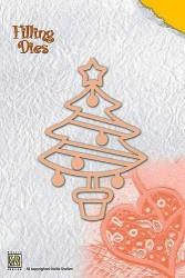 Nellie Snellen Shape Die Kerstboom QD007