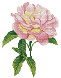 DIAMOND DOTZ PINK ROSE - NEEDLEART WORLD