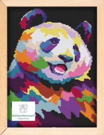Borduurpakket Colourful PANDA