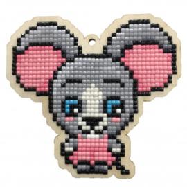 Setje met houten figuurtje DP Field Mouse