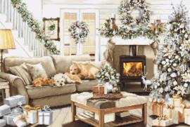 Borduurpakket Luca-S 2393 Dreaming of a White Christmas