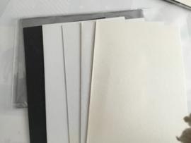 Set van 5 kaarten met grijze envelop