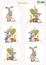 Marianne D 3D Knipvellen Bunny love 1