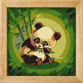 Diamond painting MANDALA FUNNY ANIMALS PANDA PICKNICK