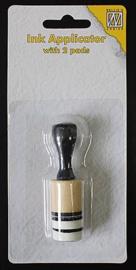 Nellies Choice kleine Chalk/Inkt applicator met 2 pads 2cm IAP004 diam. 2 cm