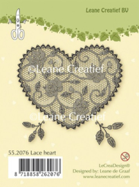 Leane Creatief - Clearstamp - Lace Heart - 55.2076