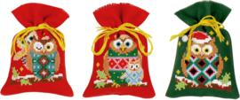 Kruiden of snoepzakjes kerstfiguren (set van 3) PN-0155943
