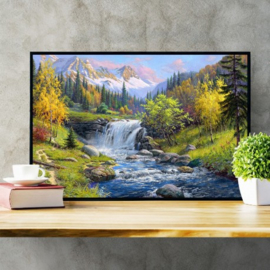 MOUNTAIN CREEK  (60 x 40 cm)