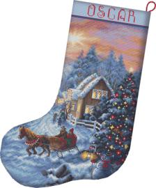 Borduurpakket LETI 8011  Christmas Eve Stocking