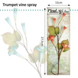Petaloo • Trumpet vine spray scarlet - Papieren bloem  (1 stuks)