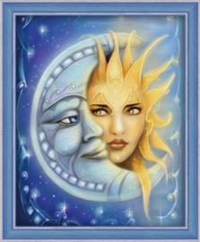 Zon en Maan (40 x 50 cm)