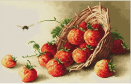 BASKET OF STRAWBERRIES (petit point)