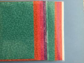 Set van 5 vellen karton bewerkt