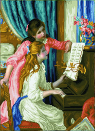 DIAMOND DOTZ GIRL'S AT THE PIANO (RENOIR) - NEEDLEART WORLD