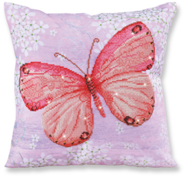 DIAMOND DOTZ KUSSEN - PAPILLON ABRICOT - NEEDLEART WORLD