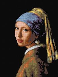 Voorbedrukt stramien after Johan Vermeer - HET MEISJE MET DE PAREL - ORCHIDEA 30 x 40