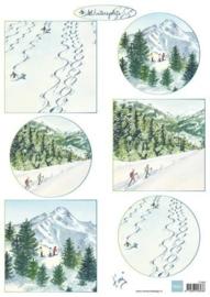 Knipvel Tiny's Winterlandschapjes 2 - Marianne Design