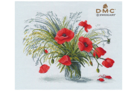 Borduurpakket OVEN -SCARLET POPPIES S1332