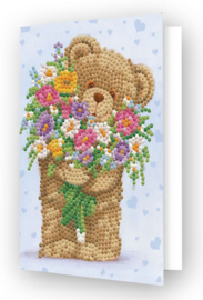 DIAMOND DOTZ GREETING CARD BUNCH OF LOVE - NEEDLEART WORLD