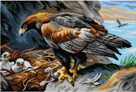 Voorbedrukt stramien GOLDEN EAGLE  40 x 60