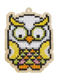 Setje met houten figuurtje DP TROPICAL OWL WW277