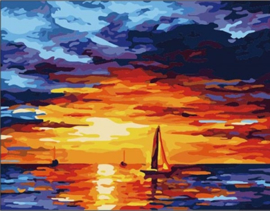 PAINT BY NUMBER SUNSET 50 x 40 cm