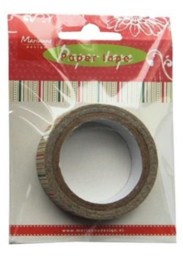 Marianne D Decoration Paper Tape - Christmas Stripes PT2320