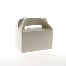PAPIBOX 5 small lunchbox zwart of wit 85x55x50 mm (lxbxh)