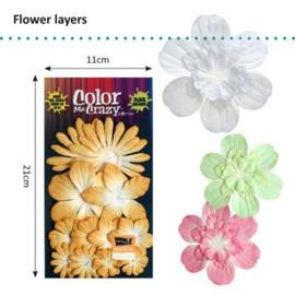 Petaloo • Flower layers Sunflower - Papieren bloemblaadjes  (12 stuks)