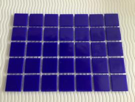 Mozaïeksteentjes 2 x 2cm (35 stuks) donkerblauw