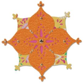 658385 Sizzix Sizzlits Singles Die Arabesque Flower