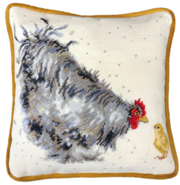 BORDUURPAKKET HANNAH DALE - MOTHER HEN TAPESTRY - BOTHY THREADS