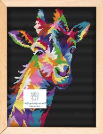 Borduurpakket Colourful GIRAF