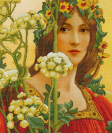 VOORBEDRUKT BORDUURPAKKET OUR LADY OF COW PARSLEY (ELISABETH SONTEL)  - LADYBIRD