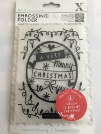 Do crafts embossing folder kerst