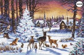 Borduurpakket LETI 947 Christmas Wood