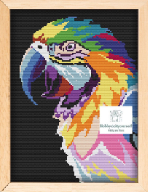 Borduurpakket Colourful PAPAGAAI