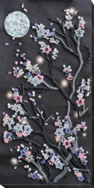 KRALEN BORDUURPAKKET SAKURA AT NIGHT - ABRIS ART