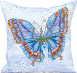 DIAMOND DOTZ KUSSEN - PAPILLON BLEU - NEEDLEART WORLD