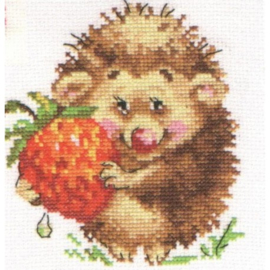 HEDGEHOG WITH STRAWBERRIES S0-51 - ALISA