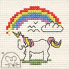 Borduurpakketje MOUSELOFT - Unicorn with Rainbow