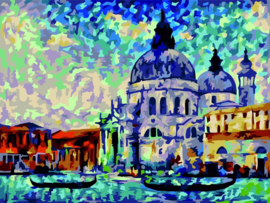 Wizardi Paint-By-Numbers Colourful Venice