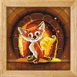 Diamond painting MANDALA FUNNY ANIMALS FIRE FOX