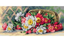 Voorbedrukt stramien After Raoul Maucherat - Flowers of May - ORCHIDEA 24 x 51