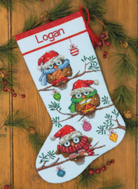 STOCKING HOLIDAY HOOTIES - DIMENSIONS