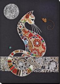 KRALEN BORDUURPAKKET CAT AND MOTH - ABRIS ART
