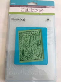 Cuttlebug embossing folder kerkraam