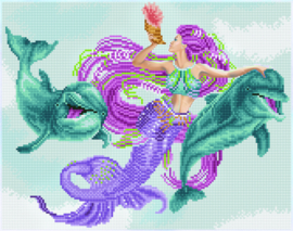 DIAMOND ART MERMAID AND FRIENDS - LEISURE ARTS