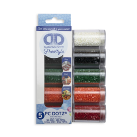 DIAMOND DOTZ DOTZ IN CILINDERS 5X 12 GR - HOLIDAY - NEEDLEART WORLD